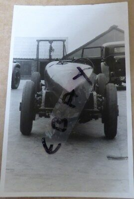 Rare Photograph Old No 1 Speed Six Rear View 1931 Brooklands  Bentley Gp4258