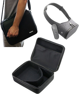Navitech Black Hard Case For The Google Daydream View Virtual Real VR-CASE NUOVO