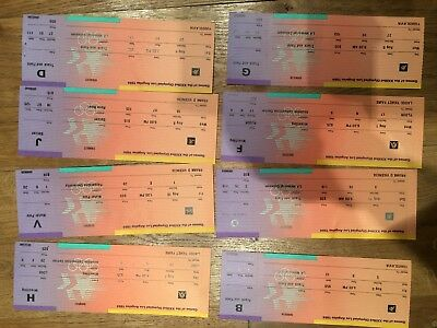 Collection 8 x 1984 Olympic Tickets Los Angeles - Wrestling Athletics Water Polo