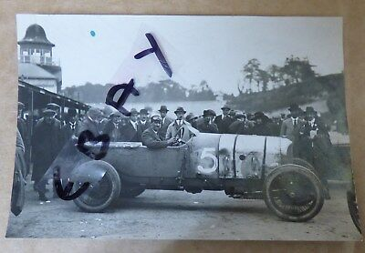 Rare Photograph 1922 Double Twelve Record  John Duff 3 Litre Bentley