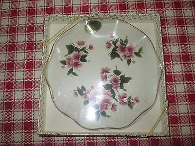 Vintage Floral Chance Glass Dish In Original Packaging