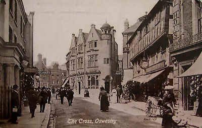 Early Real Photo Postcard. The Cross, Oswestry.
