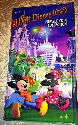 Walt Disney World Pressed Coin Collection Book w/ 7 Disney Cruise Pennies /1 Qtr