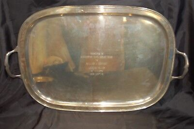 """1955 Fisher Sterling Silver 6 ½"""" Pound Serving Tray """"Equestrian Award"""""""