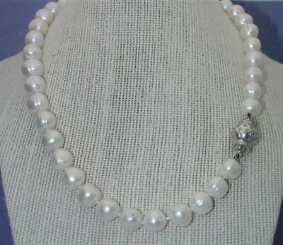 $4,500~HaLlOwEeN~SPECTACULAR 10.5MM PEARL & .75CT G/VS DIAMOND BALL NECKLACE-$99