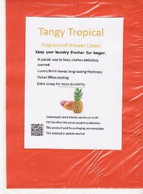 NEW!! TROPICAL Fragrance Scented Drawer Liners Refill Pack of 3 FREE P&P UK