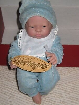 "New in Box BERENGUER SPAIN  9.5"" Anatomically Correct All Vinyl Boy Baby Doll"