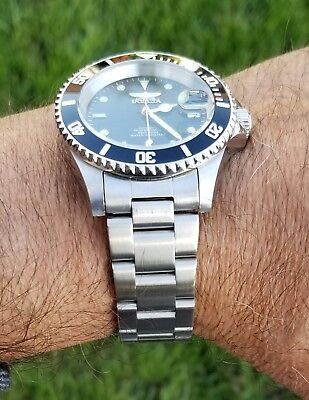 20mm Curved End SOLID Stainless Steel Watch Band FIT Invicta Diver 89260B 8926OB
