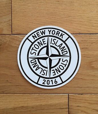 Stone Island New York Store Sticker From Sneeze Magazine 2016 New!