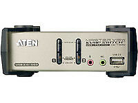 NEW! Aten CS1732B-AT-G 2 port USB KVM Five In One