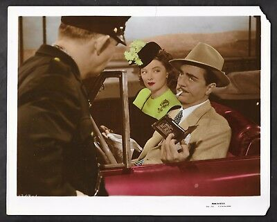 1941 Shadow Of The Thin Man Orig Color Photo Myrna Loy William Powell