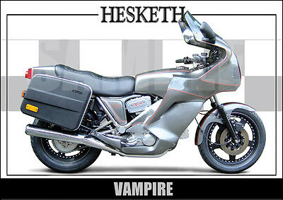 Hesketh Vampire Laminated Classic Motorcycle Print / Poster