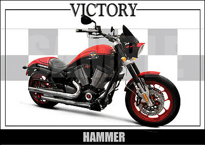 Victory Hammer S Laminated Motorcycle Print /  Poster