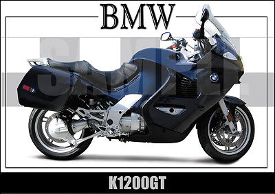Bmw K1200-Gt (2003) Laminated Classic Motorcycle Print /  Poster