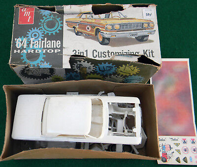 AMT 3 In 1 1964 Ford Fairlane Model Kit For Parts