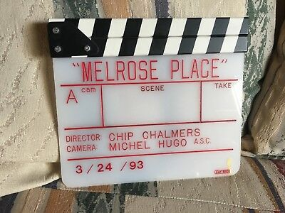 Melrose Place  Original TV Show Camera Slate With Letter of Authenticity