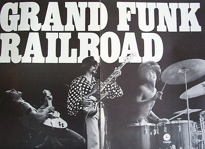 GRAND FUNK RAILROAD Lot of 6 Poster Ads 1969 - 1971