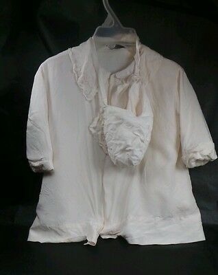 Vintage Silk Embroidered Coat & Hat 1950s Baby Clothes Little Folks Giftwear