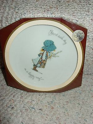Vintage New Holly Hobbie Porcelain Dish Start Each Day In A Happy Way