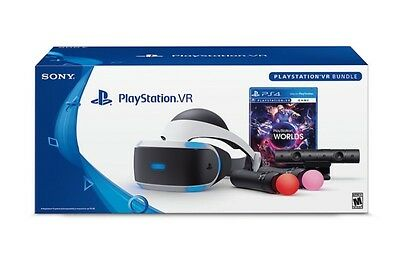 PlayStation VR BUNDLE  +  PS CAMERA + TWO REMOTES + EXTRAS! Free Shipping