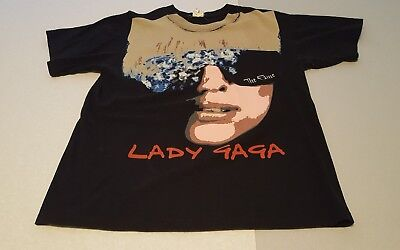 LADY GAGA Fame 2009~CHER Living Proof 2003~2 Concert T-Shirts~Clean