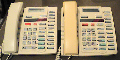 Lot Of 2 Vintage Aastra & Nothern Telecom Phones