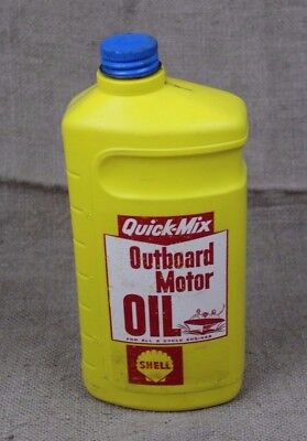 vintage SHELL Outboard Motor Oil Plastic jug can 2-cycle 1 quart