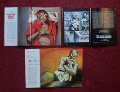 Lot of 3 Different Magazine Story & Article Title Pages w/ Marshall Arisman Art