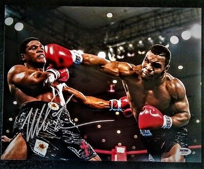 Mike Tyson Signed Photo PSA-DNA 14x11