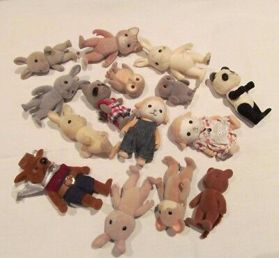 Bundle Of Old Used Sylvanian And Other Animals