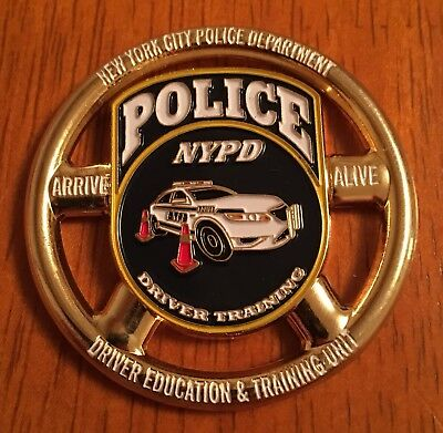 NYPD Driver Training Unit Challenge Coin Gold Version