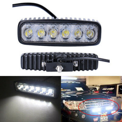 1Pc 18W Flood LED Work Light Bar Lamp Driving Fog Offroad SUV Car Boat Truck