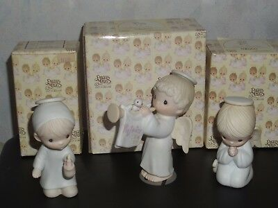 Vintage Lot Of 3 Precious Moments Nativity Angel Figurines