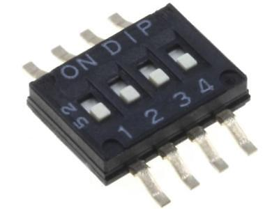 NHDFS04 Switch DIP-SWITCH Poles number4 ON-OFF 0.1A/50VDC -20÷85°C