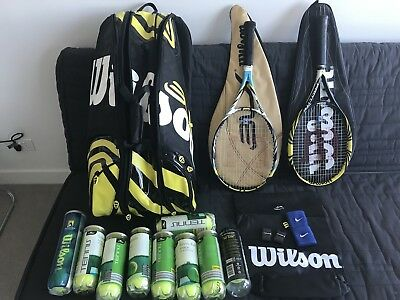 A Set Of Tennis Bag and tennis rackets