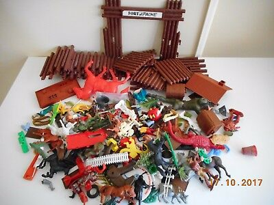 vintage plastic trinkets soldiers horses fort cereal toys britains timpo & more
