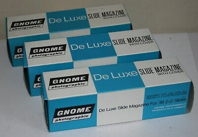3 x Gnome De Luxe 35mm Slide  / Transparency Magazine With Cover Boxed
