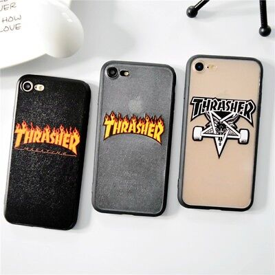 Coque Thrasher Skateboarding  Case Apple Iphone 5 6 7 8 + 10 - X