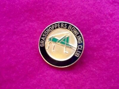 Collectors CLUB Badge GRASSHOPPERS Bowling Club Pin  .. FREE POST