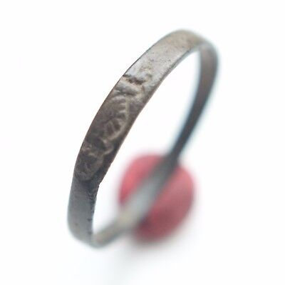 Ancient Medieval Religious Finger Ring (OCR)