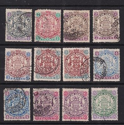 British South Africa 1896/7 collection of 12 used