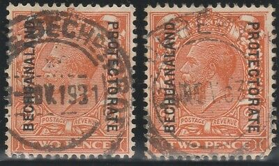 Bechuanaland Protectorate 1924 KGV. 2d stamp. Die lI.SG 77  Used