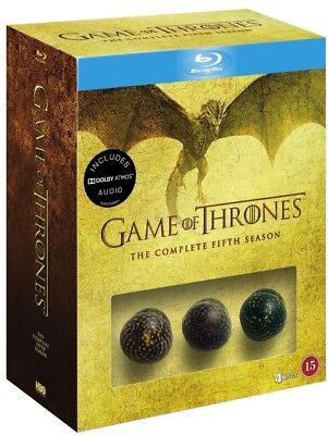 """Game of Thrones Complete Fifth Season """" Limited Dragon Egg Box"""" Blu Ray"""