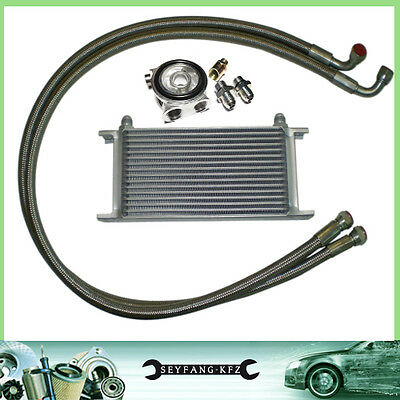 Oil Cooler Kit Complete Set 16 Row with Thermostat Ford Focus Escort Fiesta