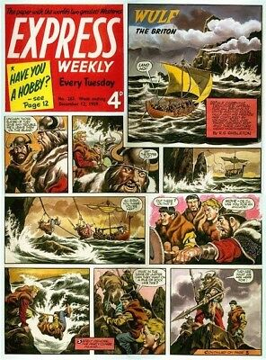 Original Artwork by Ron Embleton Wulf the Briton Express Weekly 267 Dec 1959