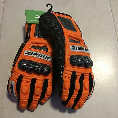 ZIENER Renn Ski Handschuh GAGE Grösse 8,5 orange UVP: 200€ race glove PROTECTION