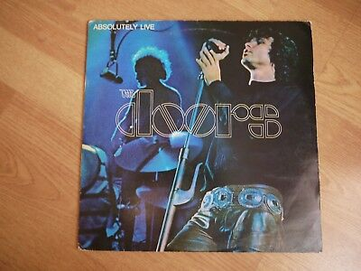 The Doors Absolutely Live UK double Original Press Red Label Psych VG condition