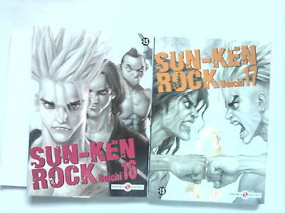 Lot SUN KEN ROCK 16 et 17 (Boichi) manga Doki Doki France