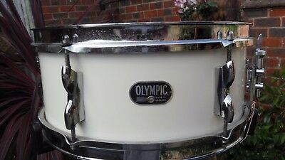 "VINTAGE 60s OLYMPIC 14"" x 5"" WOOD SNARE DRUM"