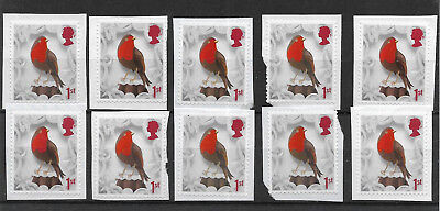 10 GB Unfranked 1st class security 2016 Christmas stamps on paper. Ref 2017/03.